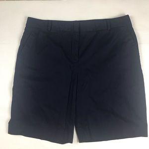 Talbots Navy Blue Bermuda Shorts Size 16